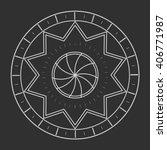 sacred geometry in light grey... | Shutterstock . vector #406771987