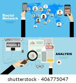 global social network abstract... | Shutterstock .eps vector #406775047