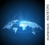 futuristic world map traffic... | Shutterstock .eps vector #406787293