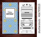happy birthday stationery with... | Shutterstock .eps vector #406795513