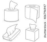 vector set of tissue paper | Shutterstock .eps vector #406796947