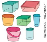 vector set of plastic container | Shutterstock .eps vector #406798687