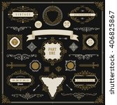 set of vintage design elements  ... | Shutterstock .eps vector #406825867