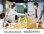 young asian business people... | Shutterstock . vector #406835593