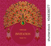Wedding Invitation Or Card Wit...