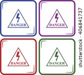 danger high voltage vector icon | Shutterstock .eps vector #406841737