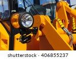 bulldozer headlight  huge...   Shutterstock . vector #406855237