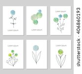 set of artistic universal cards.... | Shutterstock .eps vector #406860193