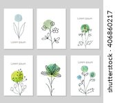 set of artistic universal cards.... | Shutterstock .eps vector #406860217