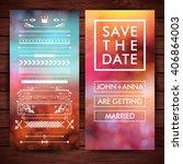 marriage invitation clip art... | Shutterstock .eps vector #406864003
