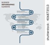 business infographics vector... | Shutterstock .eps vector #406873513