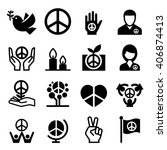 peace icon | Shutterstock .eps vector #406874413