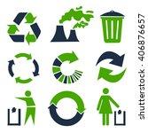 vector recycle signs | Shutterstock .eps vector #406876657