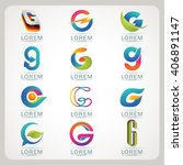 logo letter g element and... | Shutterstock .eps vector #406891147