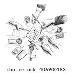 hand drawn vector illustration... | Shutterstock .eps vector #406900183