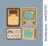 Set Of Objects In Retro Style....