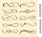 vector set of calligraphic... | Shutterstock .eps vector #406926583