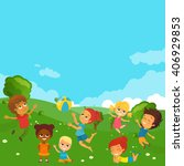 vector illustration of happy...   Shutterstock .eps vector #406929853
