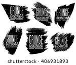 set of black ink vector stains | Shutterstock .eps vector #406931893
