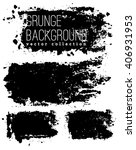 set of black ink vector stains | Shutterstock .eps vector #406931953