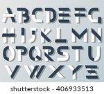 vector origami alphabet style... | Shutterstock .eps vector #406933513