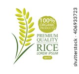 rice. vector illustration. | Shutterstock .eps vector #406933723