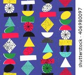 funny geometric seamless... | Shutterstock .eps vector #406980097