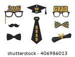 graduation 2016 elements set....   Shutterstock .eps vector #406986013
