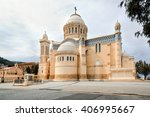 Small photo of ALGIERS, ALGERIA - APRIL 8, 2016: Cathedral of Notre dame d'Afrique, Algiers Algeria. The basilica was inaugurated in 1872, after fourteen years of construction.