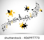 abstract musical background... | Shutterstock . vector #406997773