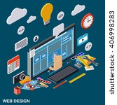 creative process  web design... | Shutterstock .eps vector #406998283
