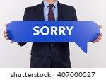 businessman holding speech... | Shutterstock . vector #407000527