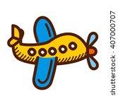 airplane cartoon vector ... | Shutterstock .eps vector #407000707