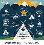 retro vintage style symbols for ... | Shutterstock .eps vector #407003593