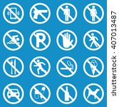 prohibition sign set for call... | Shutterstock .eps vector #407013487