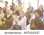 audience applaud clapping... | Shutterstock . vector #407016337
