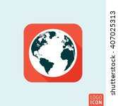 planet earth icon. world map ...