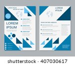modern two sided booklet vector ... | Shutterstock .eps vector #407030617