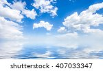 Blue Sunny Sea And Cloudy Blue...