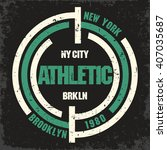 new york brooklyn sport wear ... | Shutterstock .eps vector #407035687