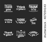 set of vintage style thank you... | Shutterstock .eps vector #407054143