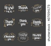 collection of 9 thank you... | Shutterstock .eps vector #407054173