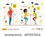 business characters collection | Shutterstock .eps vector #407057023