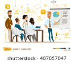 business characters collection | Shutterstock .eps vector #407057047