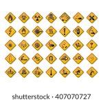 warning signs | Shutterstock .eps vector #407070727