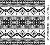 black and white seamless... | Shutterstock .eps vector #407077813
