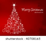 decorative christmas tree | Shutterstock .eps vector #40708165