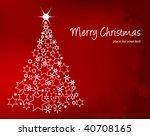 decorative christmas tree | Shutterstock .eps vector #40708165