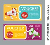 gift voucher template with... | Shutterstock .eps vector #407083723