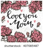 card of happy mothers day.... | Shutterstock .eps vector #407085487
